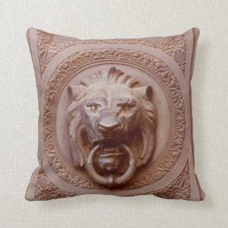 Pillow - Lion's head door knocker