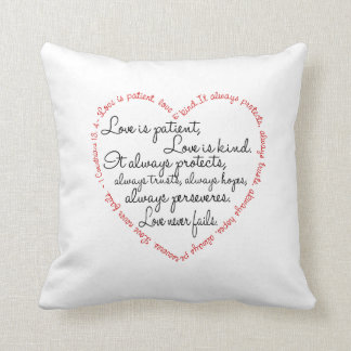 Pillow - Love is Patient Word Heart