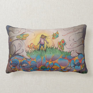 Pillow (lumbar) with colorful surreal landscape