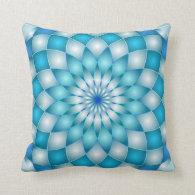 Pillow mandala abstract lotus flower