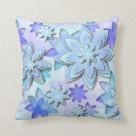 Pillow mandala abstract lotus flowers