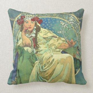 Pillow Mucha Alfons Princezna Hyacinta 1911