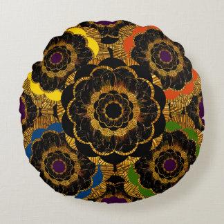 Pillow | Multicolor Mod Flower Mandala Round Pillow