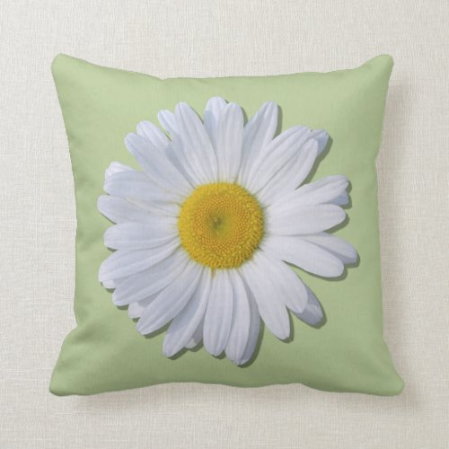 Pillow - New Daisy on Green/Basketweave