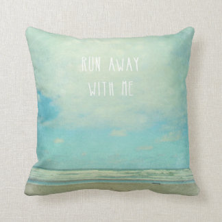 "pillow ocean beach scene ""run away with me"""