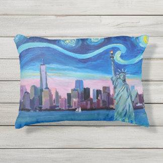 Pillow of Starry Night over Manhattan New York