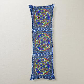 Pillow OIL Paint Texture Flower Blue by Navin Josh