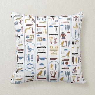 Pharaoh White Background Pillow