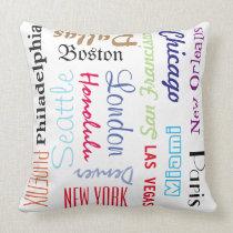 Pillow Popular Cities Travel Destinations