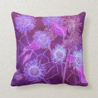 Pillow--Purple Bright Sunflowers