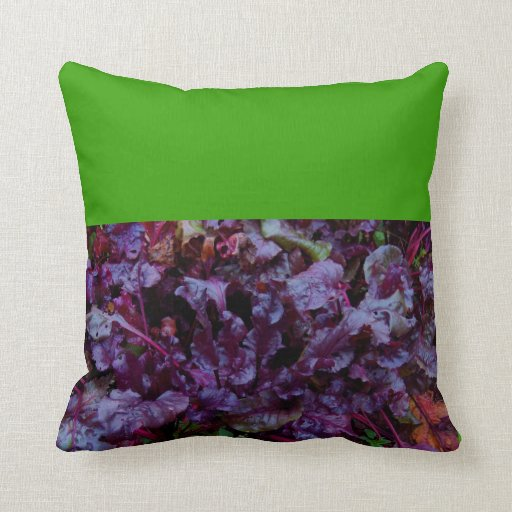 PILLOW PURPLE LETTUCE AND BRIGHT GREEN