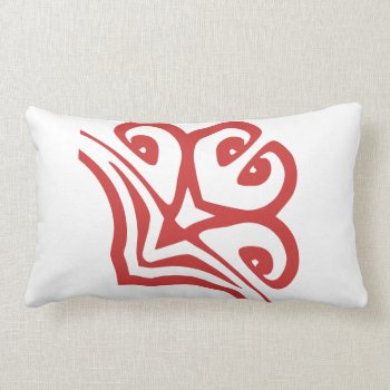 Pillow Red And White Floral by creativeconceptss at Zazzle
