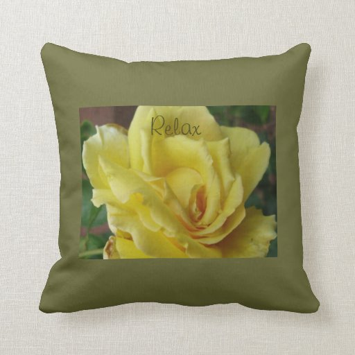 Throw Pillows That Say Relax : Pillow--RELAX Throw Pillow Zazzle