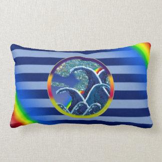Pillow | Sequin Waves Surf rainbow stripes