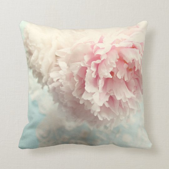 Shabby Chic Pink Pillows : Pillow shabby chic pink peony Zazzle