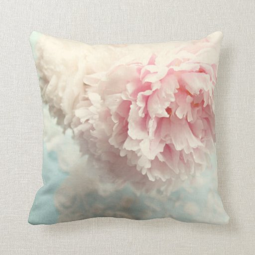 Shabby Chic Pink Decorative Pillows : Pillow shabby chic pink peony Zazzle