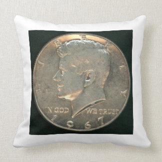Pillow - Silver Coin Kennedy Half Dollar 1967