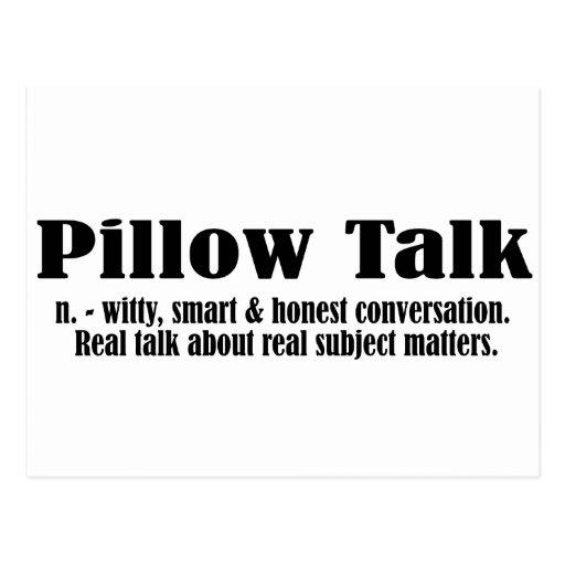 Pillow Talk Defined - Black Postcard