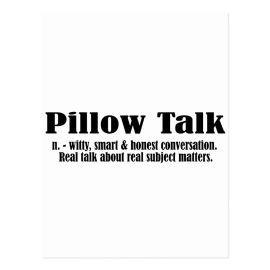 Pillow Talk Defined - Black Postcard