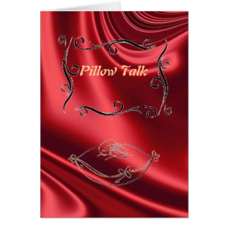 Pillow Talk Greeting Card (Red)