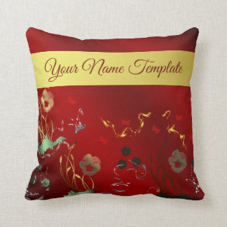 pillow,temlate, floral holiday, elegant, ,color throw pillow