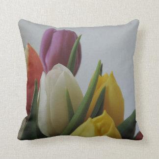 Pillow, throw Colorful Tulips Throw Pillow