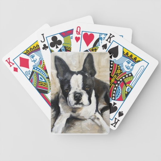 """""""Pillow Time"""" Boston Terrier Dog Lover Gift Bicycle Playing Cards"""