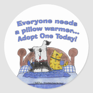 Pillow Warmers Classic Round Sticker