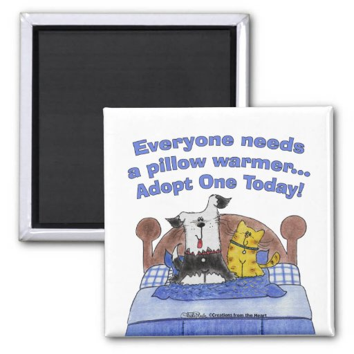Pillow Warmers Refrigerator Magnets