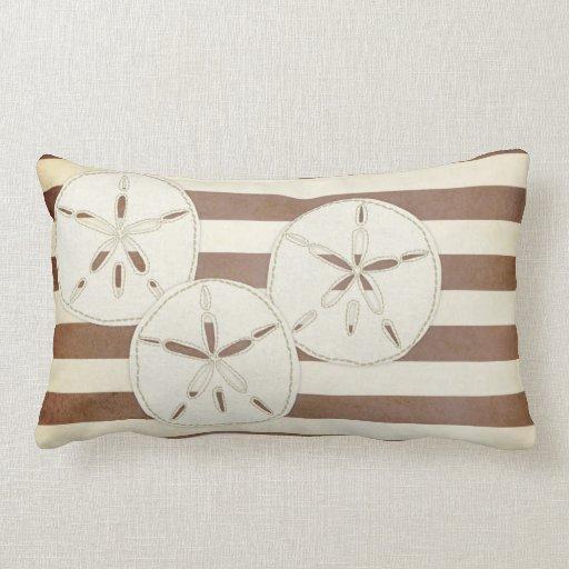 Throw Pillows Under 5 Dollars : Pillow: White & Brown Sand Dollar Throw Pillow Zazzle