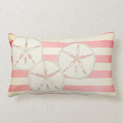 Throw Pillows Under 5 Dollars : Pillow: White & Pink Sand Dollar Throw Pillow Zazzle