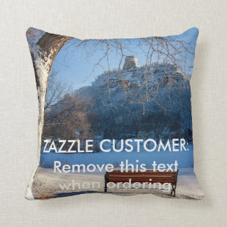Pillow Winter Sugarloaf Bench Souvenir Yearous