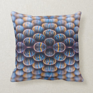 Pillow with Abstract Honeycomb Design