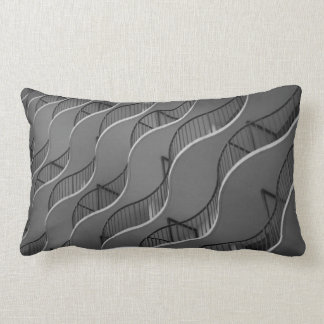 Pillow with B&W image of balconies