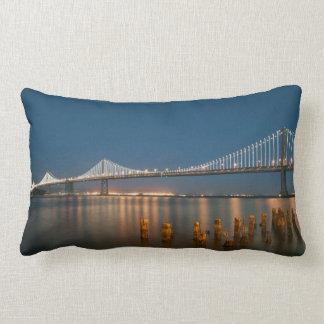 pillow with bay bridge photo