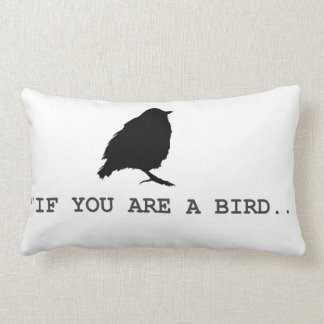 Pillow with bird