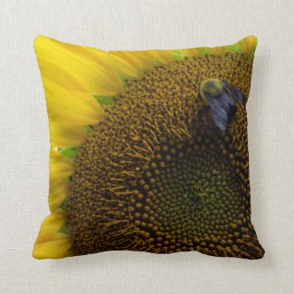 Pillow with busy bee