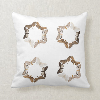 Pillow with butterfly ring