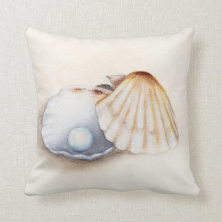 pillow with clam and pearl