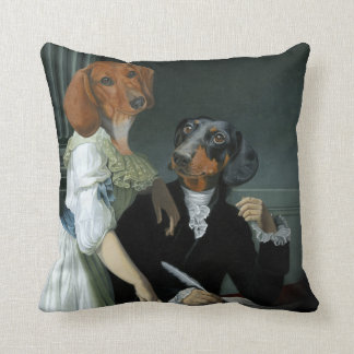 Pillow with family Dachshunds