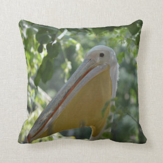 Pillow with funny pelican