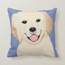 Pillow with golden retriever