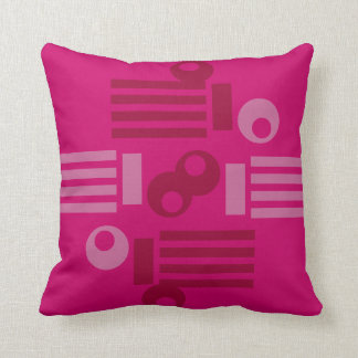 Pillow with Intense Pink Datelles Decorative