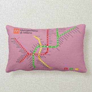 Pillow with map of Milan Subway