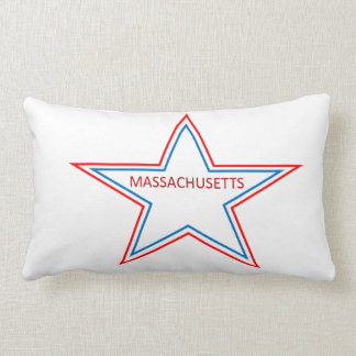 Pillow with massachusetts in a star