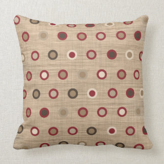 pillow with medley of brown earthy shades circles