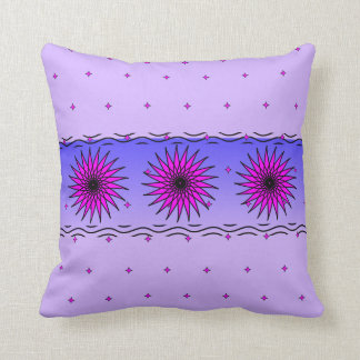 Pillow with pink florals and scattered stars