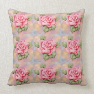 Pillow with Pink Roses