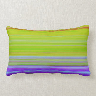 Pillow with rejuvenating Green Stripes