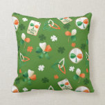 Pillow  with shamrock patterns